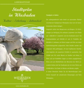 Stadtgrün in Wiesbaden Kultur – Erholung - Landeshauptstadt ...