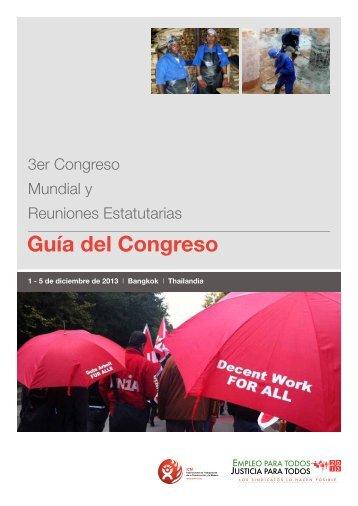 Guía del Congreso - BWI 2013 World Congress