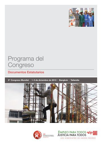 Programa del Congreso - BWI 2013 World Congress