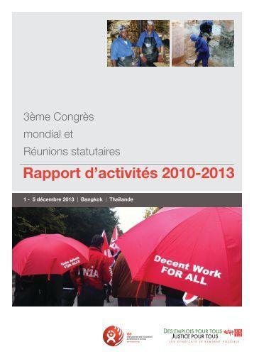 Rapport d'activités 2010-2013 - BWI 2013 World Congress