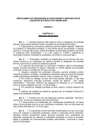 1 REGULAMENT DE ORGANIZARE ŞI FUNCŢIONARE A ...