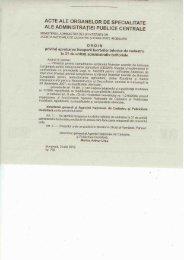 acte ale organelor de specialitate ale administraţiei publice centrale