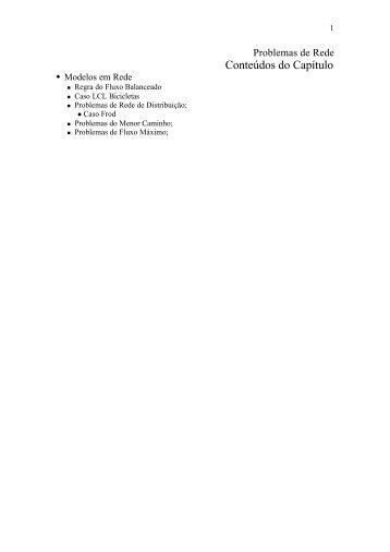 Problemas de Rede - DEINF/UFMA
