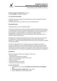 Trabalho do Grau A Estruturas Avançadas de Dados II ... - Unisinos