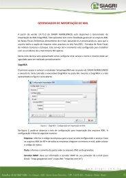 GERENCIADOR DE IMPORTAÇÃO DE XML - Siagri