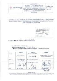 PROCEDURA ă ACCESUL LA BAZA DE DATE CU C d P 0_ ... - Enel