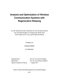 Analysis and Optimization of Wireless Communication Systems with ...