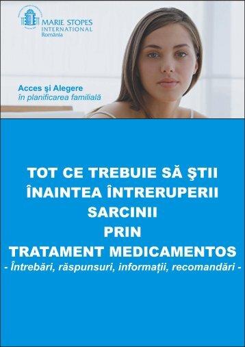 Brosura Intrerupere sarcina prin tratament medicamentos