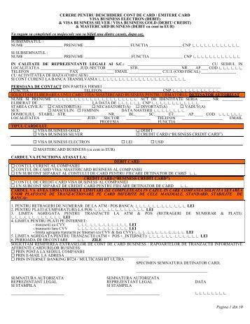 Click aici pentru a descarca formularul... - Banca Transilvania
