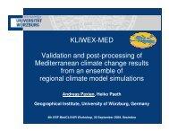 Validation and post-processing of Mediterranean climate ... - Medclivar
