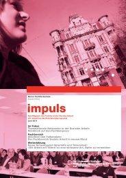 impuls - Departement Wirtschaft, Gesundheit, Soziale Arbeit - Berner ...