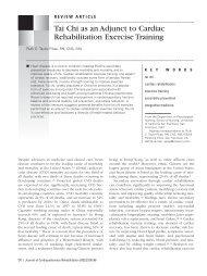 Tai Chi as an Adjunct to Cardiac Rehabilitation ... - William C. C. Chen
