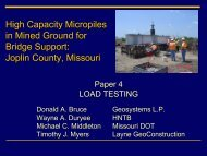 Load Testing of Production Piles, Dr. Donald Bruce, Geosystems ...