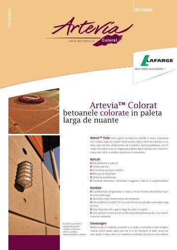 Artevia Colorat Fisa Produs - Lafarge