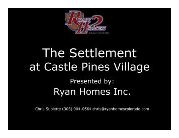 The Settlement - Coldwell Banker Castle Pines