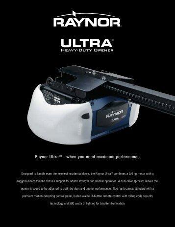 Ultra - Raynor Garage Doors