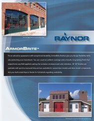 ArmorBrite™ Color Chart - Raynor Garage Doors