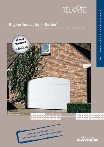 English Europe Relante 12-07.qxp - Raynor Garage Doors