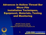 Advances in Hollow Thread Bar Micro Pile Installation Techniques ...