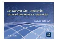 Bahbouh, Radvan: Jak tvarovat tým