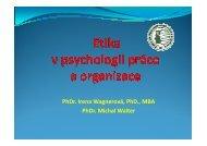 Etika v psychologii práce a organizace