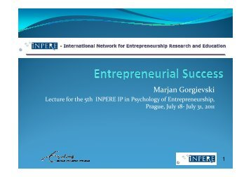 IP Entrepreneurial success