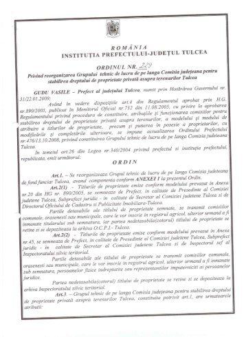 6. - Prefectura Judeţului Tulcea
