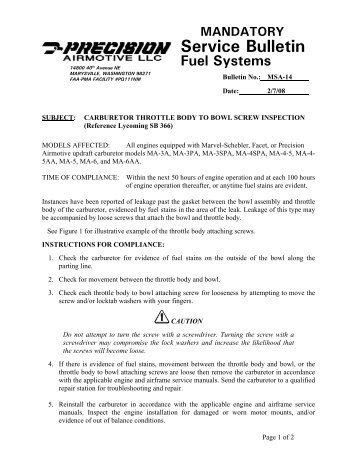 Tecumseh Carburetor Identification Troubleshooting And Service Manual