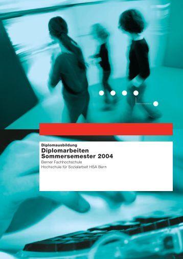 Diplomarbeiten Sommersemester 2004 - Departement Wirtschaft ...