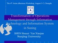 Transformation of Operations Management through Information ...
