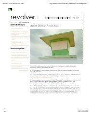 Revolver   Artist Profile_Amir Zaki