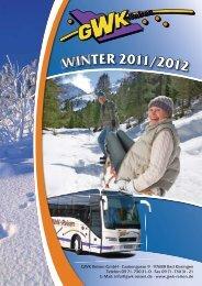 WINTER 2011/2012 - GWK Reisen