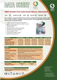 GN31 Powder Free Latex Exam Gloves, Chlorinated - Lilli