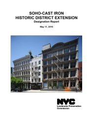 SOHO-CAST IRON HISTORIC DISTRICT EXTENSION - NYC.gov