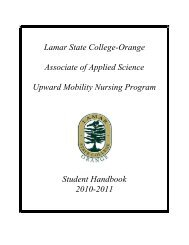 Student Handbook - Lamar State College-Orange