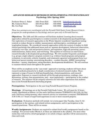 advanced research methods in developmental psychopathology