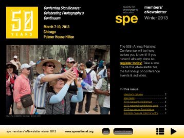 to download the full newsletter - Society for Photographic Education