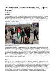 """Wöchentliche Demonstrationen am """"Tag des Landes"""""""