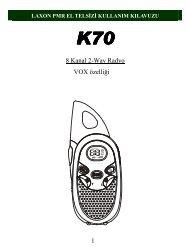 1 8 Kanal 2-Way Radyo VOX özelliği - Hepsiburada.com