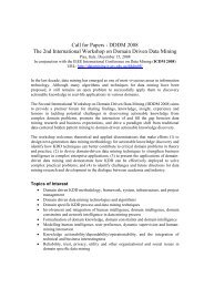 Call for Papers - DDDM 2008 The 2nd International Workshop on ...