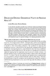 drugs and driving - Journal of Drug Issues