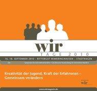 T A G E 2 0 1 0 - WIR | Das Magazin für Unternehmerfamilien