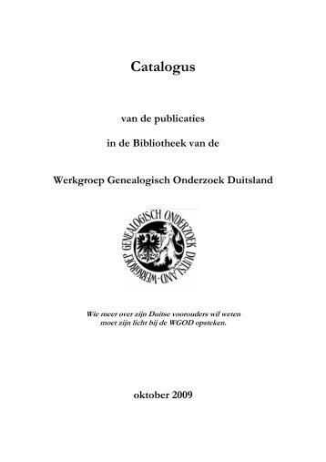Catalogus - WGOD