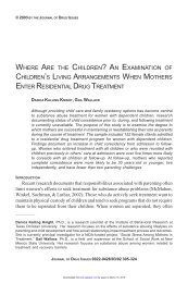 where are the children? - Journal of Drug Issues