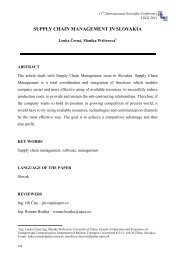 supply chain management in slovakia - LOGI - Scientific Journal on ...