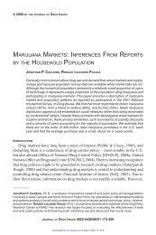 marijuana markets - Journal of Drug Issues