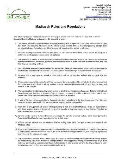Rules for children parent Parents