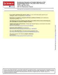 Evolutionary Dynamics of Complex Networks of HIV Drug-Resistant ...