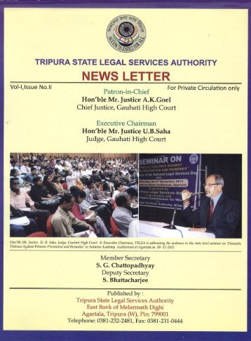 Newsletter Vol-I, Issue No.II - Tripura