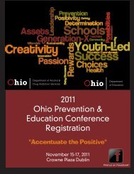 2011 Ohio Prevention & Education Conference Registration
